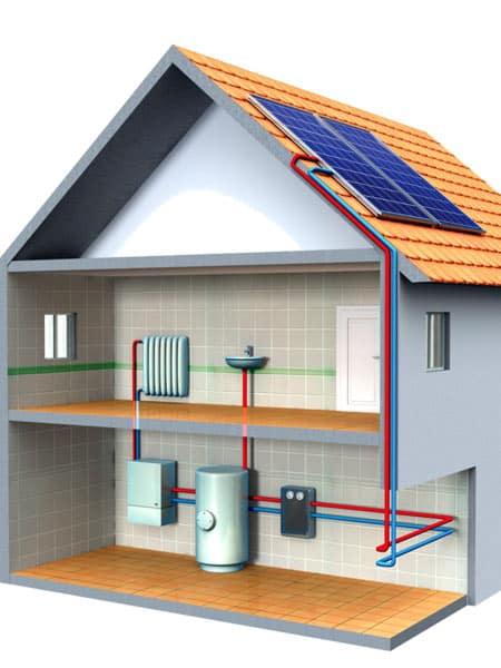 Solare termico per riscaldamento piacenza costo - Impianto gas casa costo ...